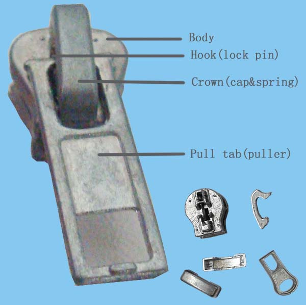 auto lock zipper slider