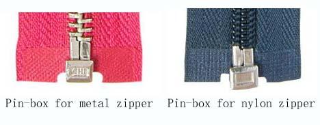 pin box zipper